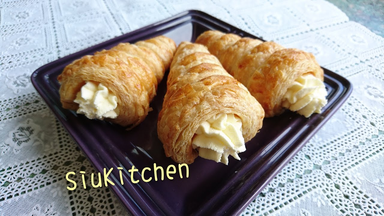 how to make puff pastry cones