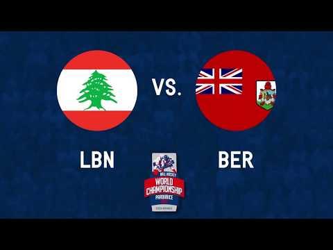Lebanon vs Bermuda 2017 World Ball Hockey Championships in Pardubice, Czech Republic