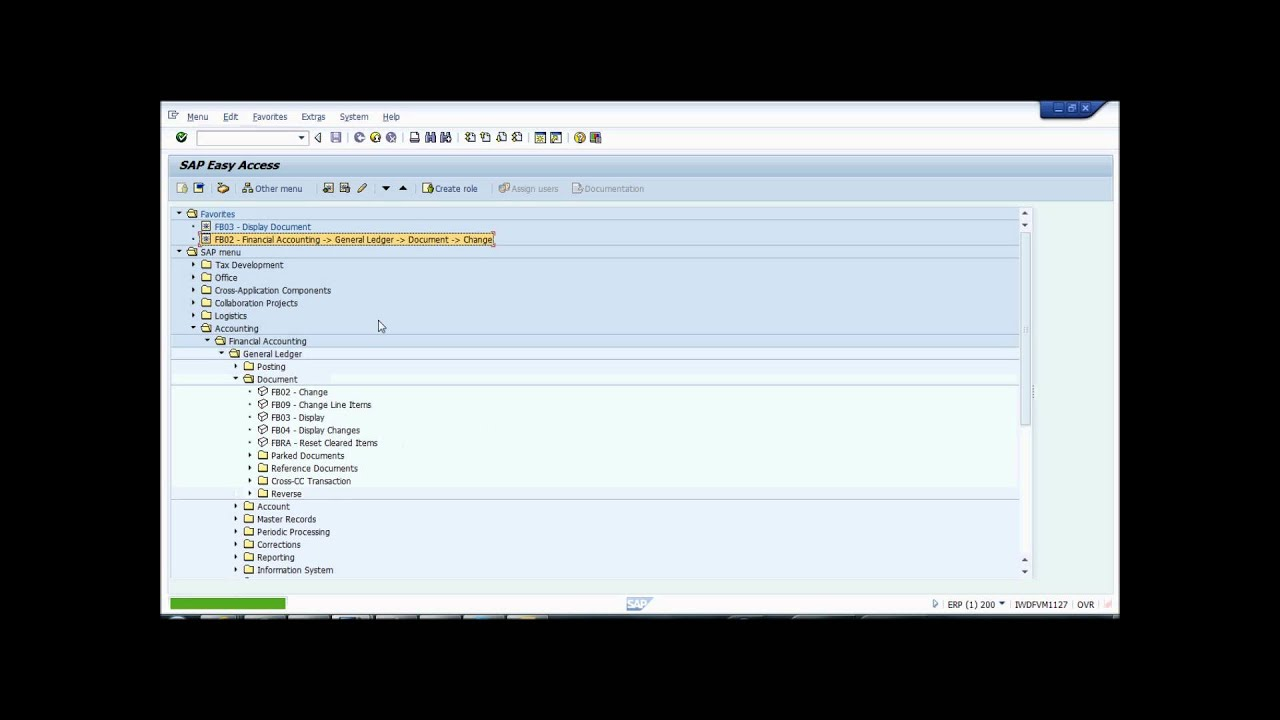 How to create favorites in SAP