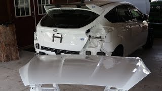 Salvage Ford Focus RS Rebuild: Paint Round 1
