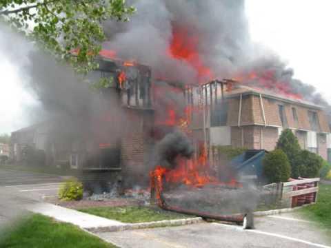 EDISON FIRE DEPT 3 ALARM DURHAM WOODS FIRE 4/29/2009 B PLATOON ...