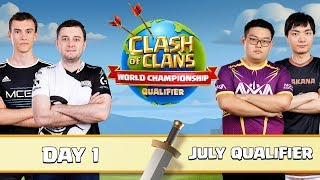 World Championship July Qualifier Day 1 Clash of Clans