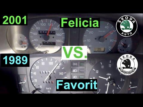 1989 Vs. 2001 Acceleration Battle | Skoda Favorit Vs. Felicia | 136L 46 KW Vs. 1.3 MPi 50 KW