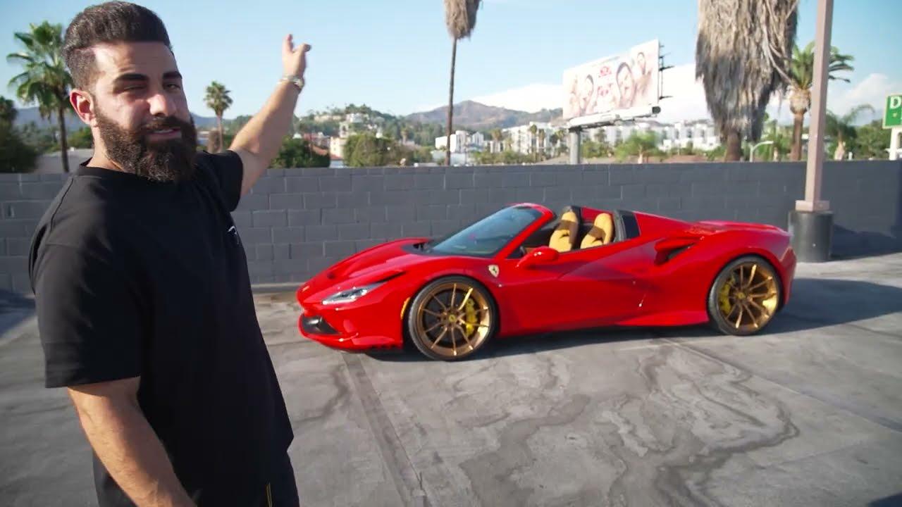 Ferrari F8 Spider Stunning Red/Bronze Combo, Sarkis BMW Overload.