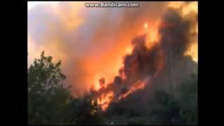 Ужасный  пожар в зоне отдыха в Анталии