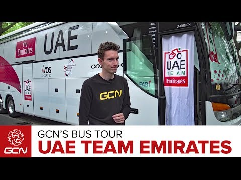 UAE Team Emirates Cycling Team Bus | GCN's Bus Tours