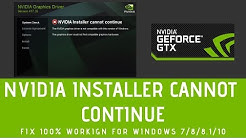 Nvidia Installer Cannot Continue 100% Working | How To Fix Nvidia Installer Failed
