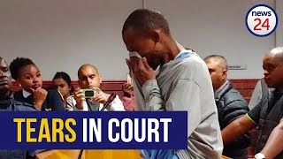 WATCH | KZN father accused of hanging four children cries in court