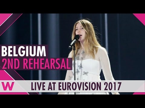 """Second rehearsal: Blanche """"City Lights"""" (Belgium) Eurovision 2017 