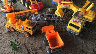 Funny and Education - excavator crane truck rescue cars toys Toys Story For Kids