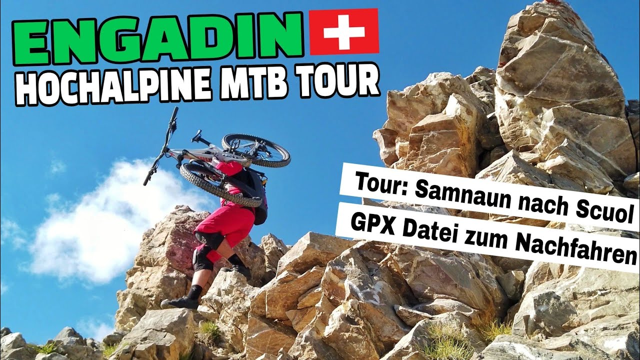HOCHALPIN BIKEN in Region Engadin | #purealpinetrails | MTB Tour Samnaun - Scuol | Leo Kast