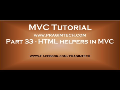 Part 33   Html Helpers In Mvc