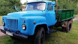 Заводим ГАЗ-52 , покрасили после 5 лет простоя , катаемся. Серия №2