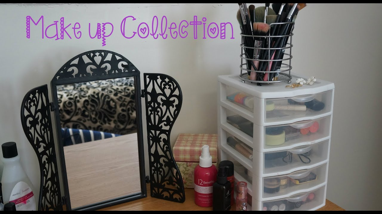 Makeup Vanity Small Spaces Makeup Collection And Storage Ideas For Small Spaces