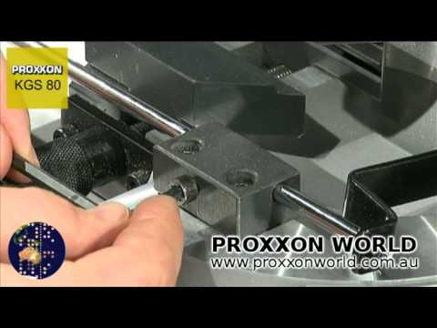 cut off mitre saw demonstration proxxon kgs 80 youtube. Black Bedroom Furniture Sets. Home Design Ideas