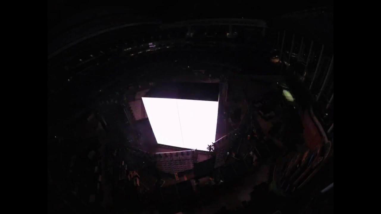 Time Lapse Marlins Park- Beyonce concert conversion back to baseball