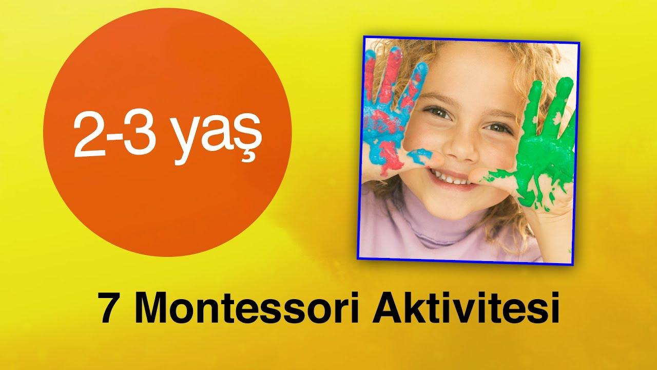 2 3 Yas Icin 7 Montessori Aktivitesi Egitbilim Youtube
