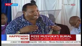 Mimi sikua na ubaya -Waititu at Mzee Peter Musyoka burial