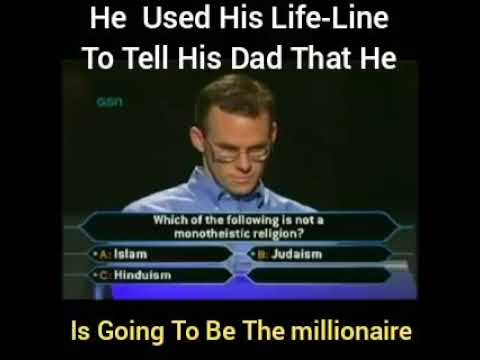 HE USED HIS LIFE-LINE TO TELL HIS FATHER THAT HE IS GOING TO BE A MILLIONARE #THUG LIFE