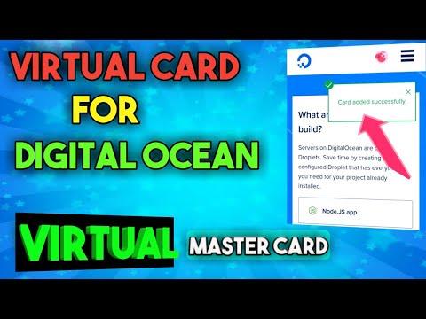 Digital Ocean Vcc - Virtual Mastercard - Digital Ocean Account Control Panel Overview