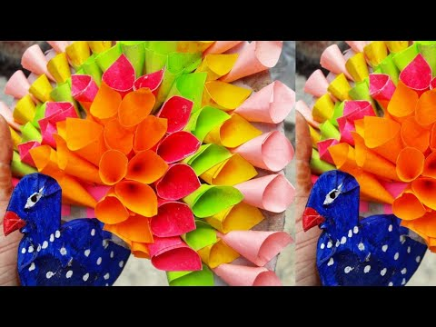 Beautiful 3D Paper Peacock Making | Best Out Of Waste | Handmade Peacock ShowPiece | Unique Craft