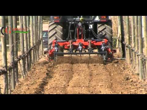 Cultiviña con intercepas hidráulicas