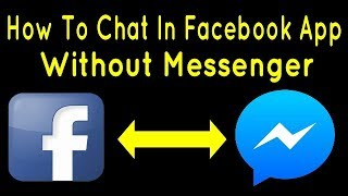 How To Chat In Facebook App Without Installing Messenger screenshot 1