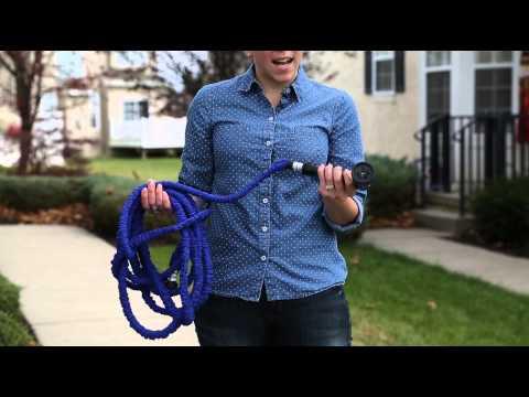 Expandable Garden Hose & Spray Nozzle Combo- 50 Foot -