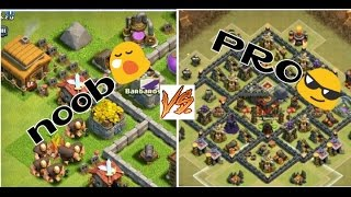 Clash of clans noob Vs pro