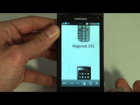 Samsung GT S8530 Wave II Test Internet