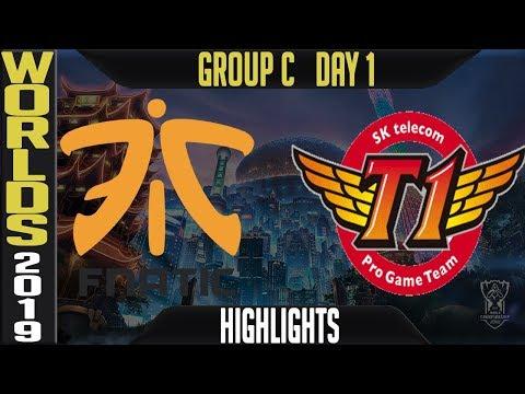 FNC vs SKT Highlights Game 1 | Worlds 2019 Group C Day 1 | Fnatic vs SK Telecom T1