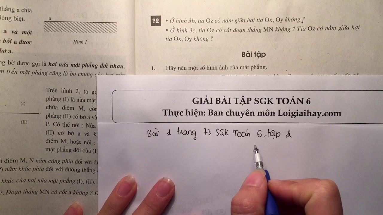 Giải bài 1 trang 73 SGK toán 6 tập 2