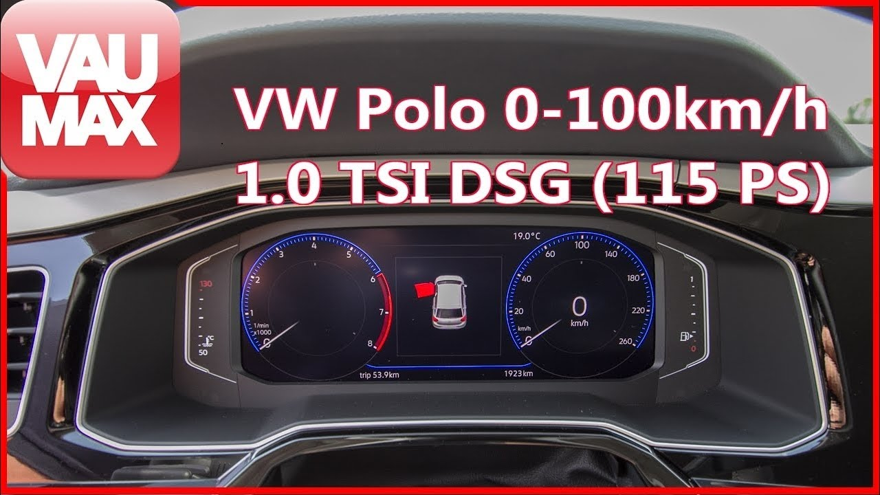 beschleunigung 0 100 km h 2018 vw polo vi 1 0 tsi 115 ps dsg tachovideo acceleration 0. Black Bedroom Furniture Sets. Home Design Ideas
