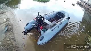 Поисковый магнит с лодки на реке Волга