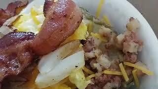 Breakfast loaded potato