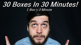 30 Boxes in 30 Minutes Fast ASMR Speed Tapping