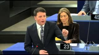 Address of Matteo Renzi before the European Parliament 13/01/2015 (part 1)