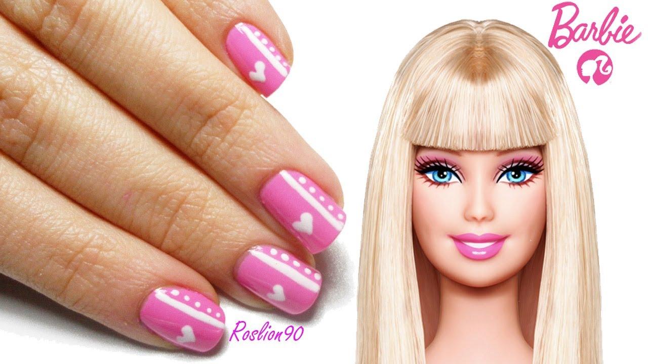 Barbie nail art tutorial youtube prinsesfo Images