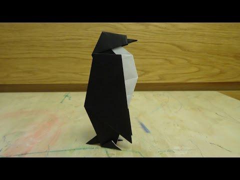 Оригами императорский пингвин