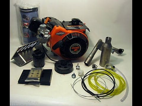 LO 206 Briggs and Stratton racing engine kit unboxing