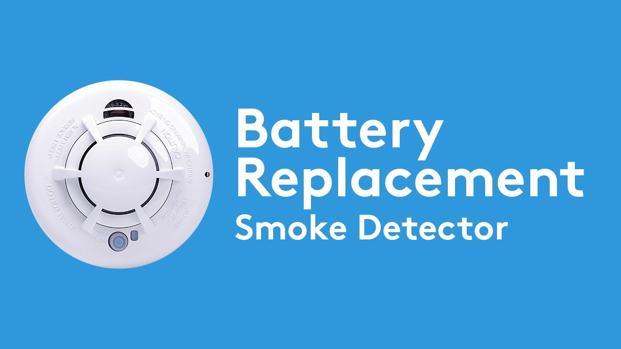 How To Change The Battery In Your Smoke Detector Adt Youtube