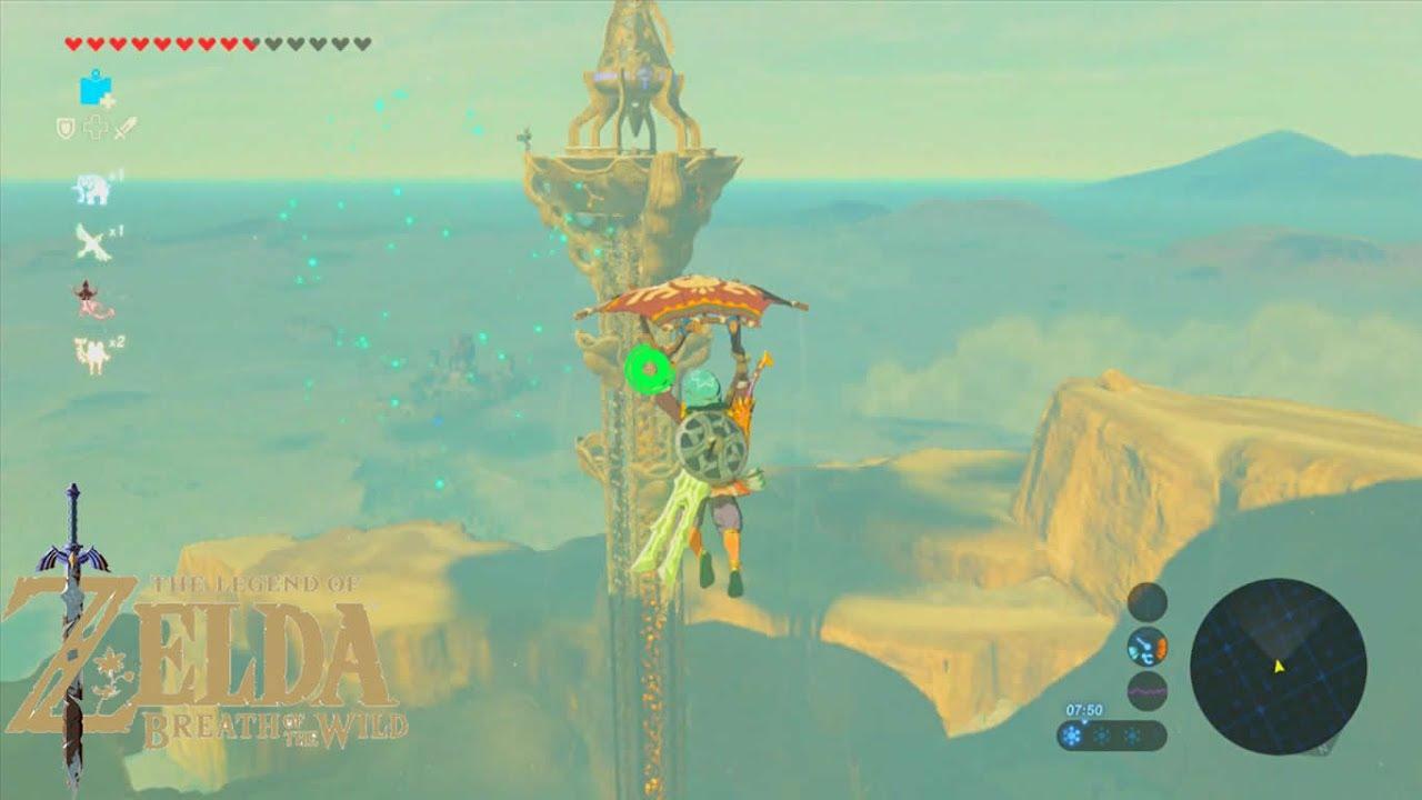 The Legend Of Zelda Breath Of The Wild Torre Gerudo Youtube