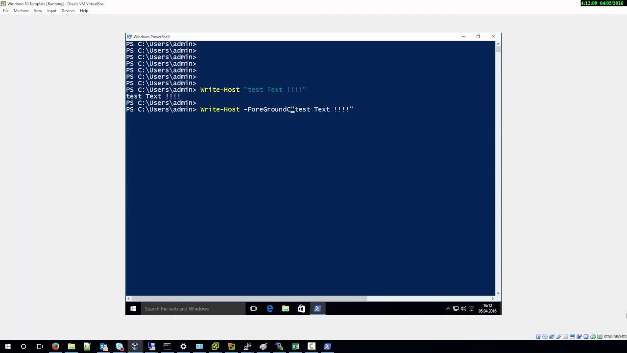 Change Output Color In Powershell Youtube