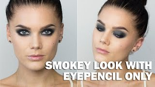 Smokey look with eyepencil Only (with subs) - Linda Hallberg Makeup Tutorials Thumbnail