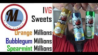 💨 IVG Sweets 😍 / Geschmackstest / Orange Millions, Bubblegum Millions, Spearmint Millions 💨