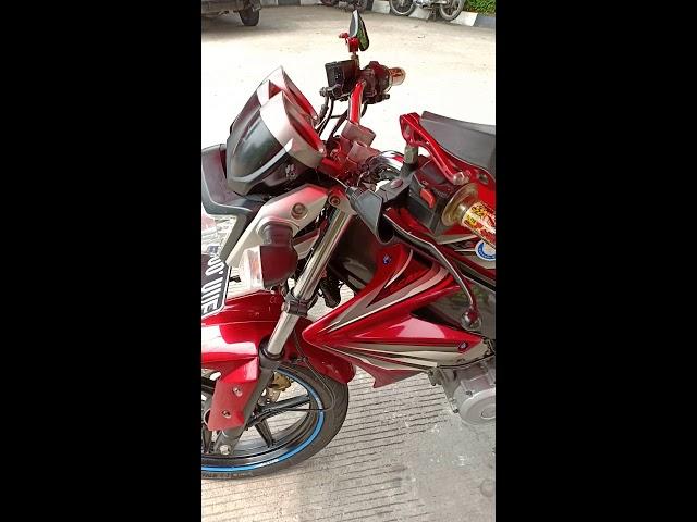 Old Vixion merah maroon modif minimalis