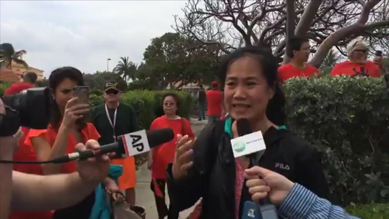 習近平下榻酒店外直播回放:訪民和中國駐美領事發生沖突 - YouTube