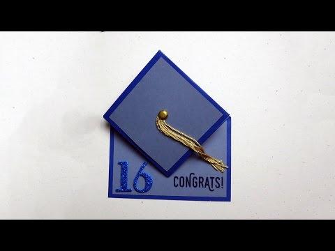 Graduation Cap Card Tutorial