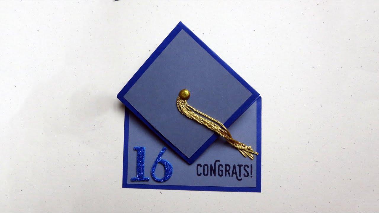 Graduation Cap Card Tutorial - YouTube