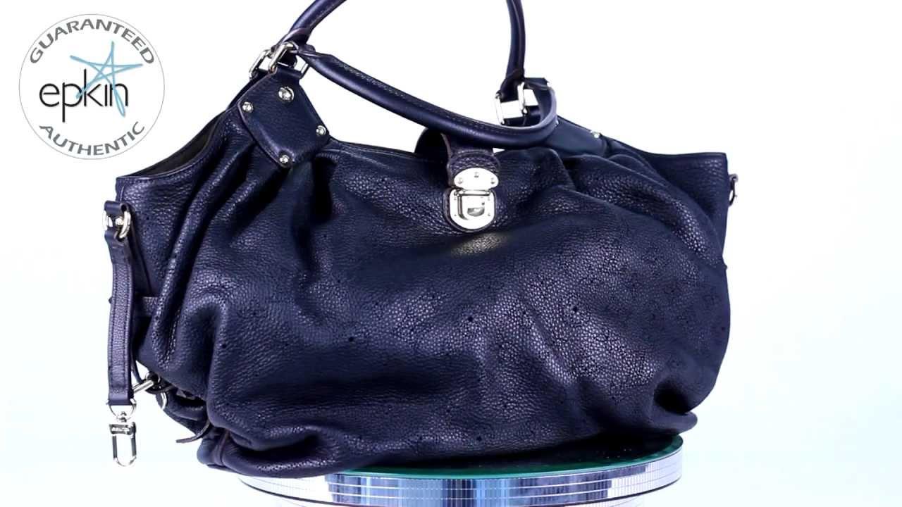 Louis Vuitton Mahina Xl Handbag Shoulder Bag Tote Purse Authentic Black New